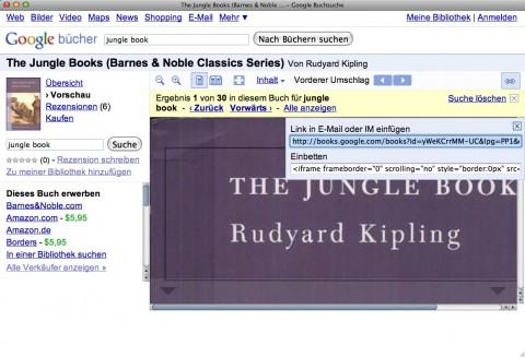 Google Books - Seitenverlinkung und Embedding