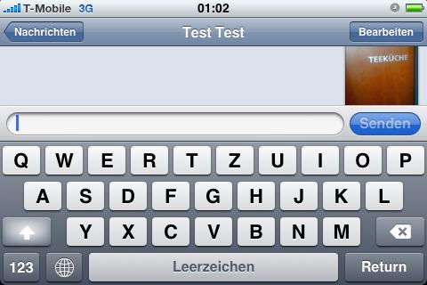 SMS und MMS im Querformat