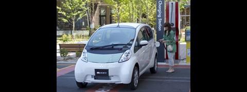 Das Fahrzeug soll im Sommer in Japan auf den Markt kommen - vorerst aber nur für Unternehmen und Behörden. (Foto: Mitsubishi)