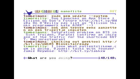 Breadbox64 - Twitter-Client für C64