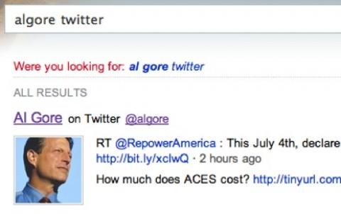 Al-Gore-Tweet auf Bing