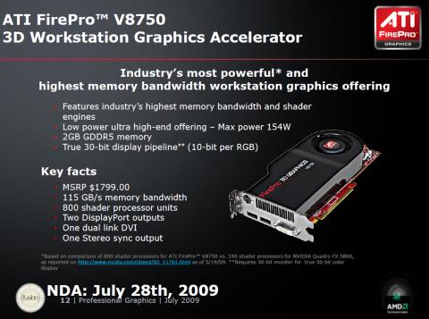AMD-Präsentation zur FirePro V8750