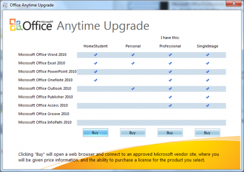 Office 2010 Technical Preview: Anytime-Upgrade auch in Office 2010