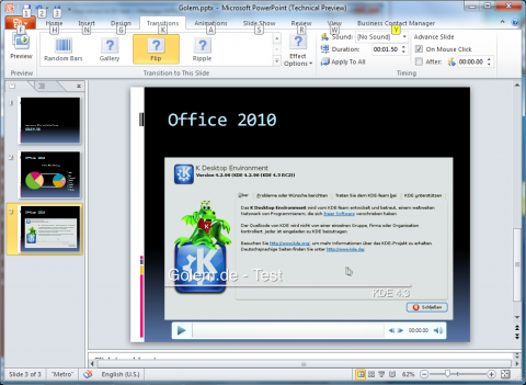 Office 2010 Technical Preview: Powerpoint 2010