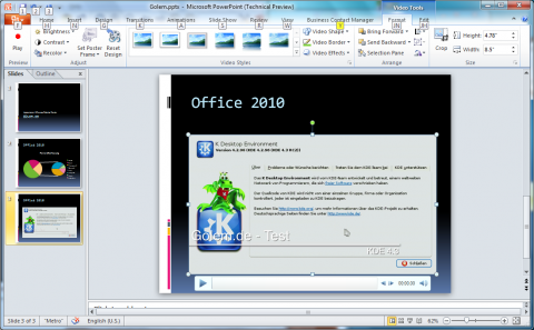 Office 2010 Technical Preview: Videotools in den Ribbons