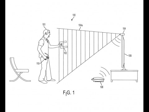 """Sony-Patent: Ein """"U"""" dient als Platzhalter für Tassen oder andere Gegenstände."""