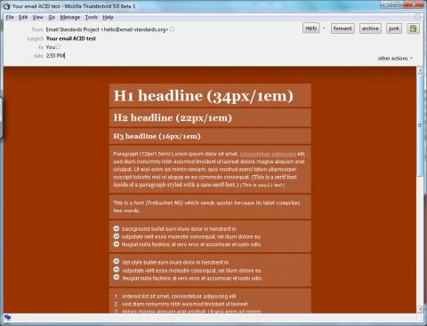 Wenn es doch mal HTML sein muss: gute Resultate im E-Mail-Acid-Test.