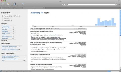 Thunderbird 3 mit erweiterter Suchfunktion