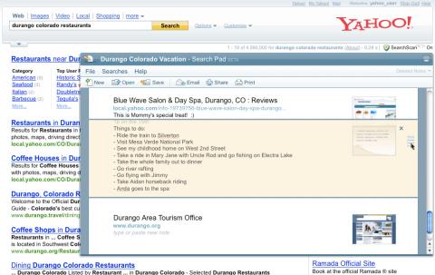 Yahoo Search Pad
