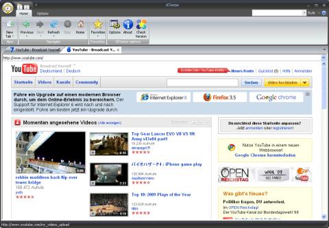 Youtubes Warnung an Nutzer des Internet Explorer 6