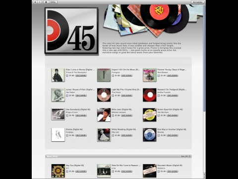 iTunes Digital 45s
