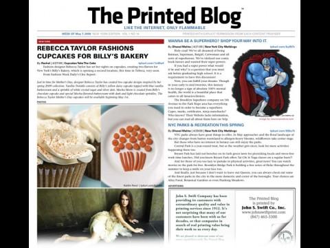 The Printed Blog - Titelseite der Ausgabe 14