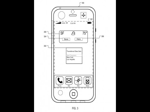Apple Patent: Transitional Data Sets mit ortsabhängigem Icon