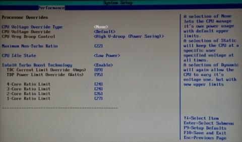 Erhöhen des Turbo ohne Extreme-CPU verboten