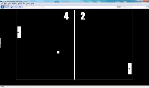 Pong in Firefox