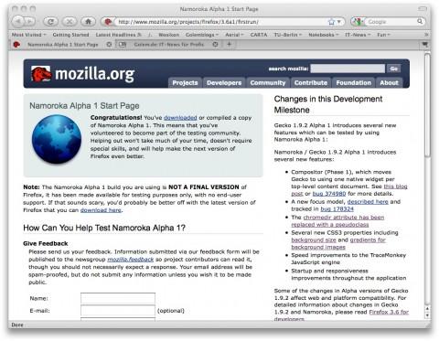 Firefox 3.6 Alpha 1