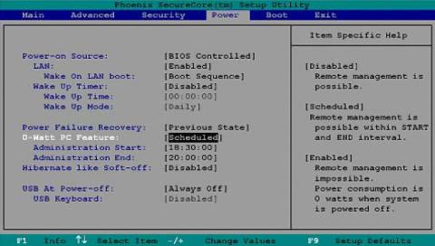 Der 0-Watt-Modus wird im BIOS eingestellt. (Bild: Fujitsu)