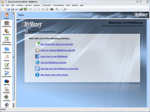 KMyMoney 1.0