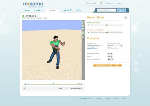 Mixamo - 3D-Animation im Browser verändern