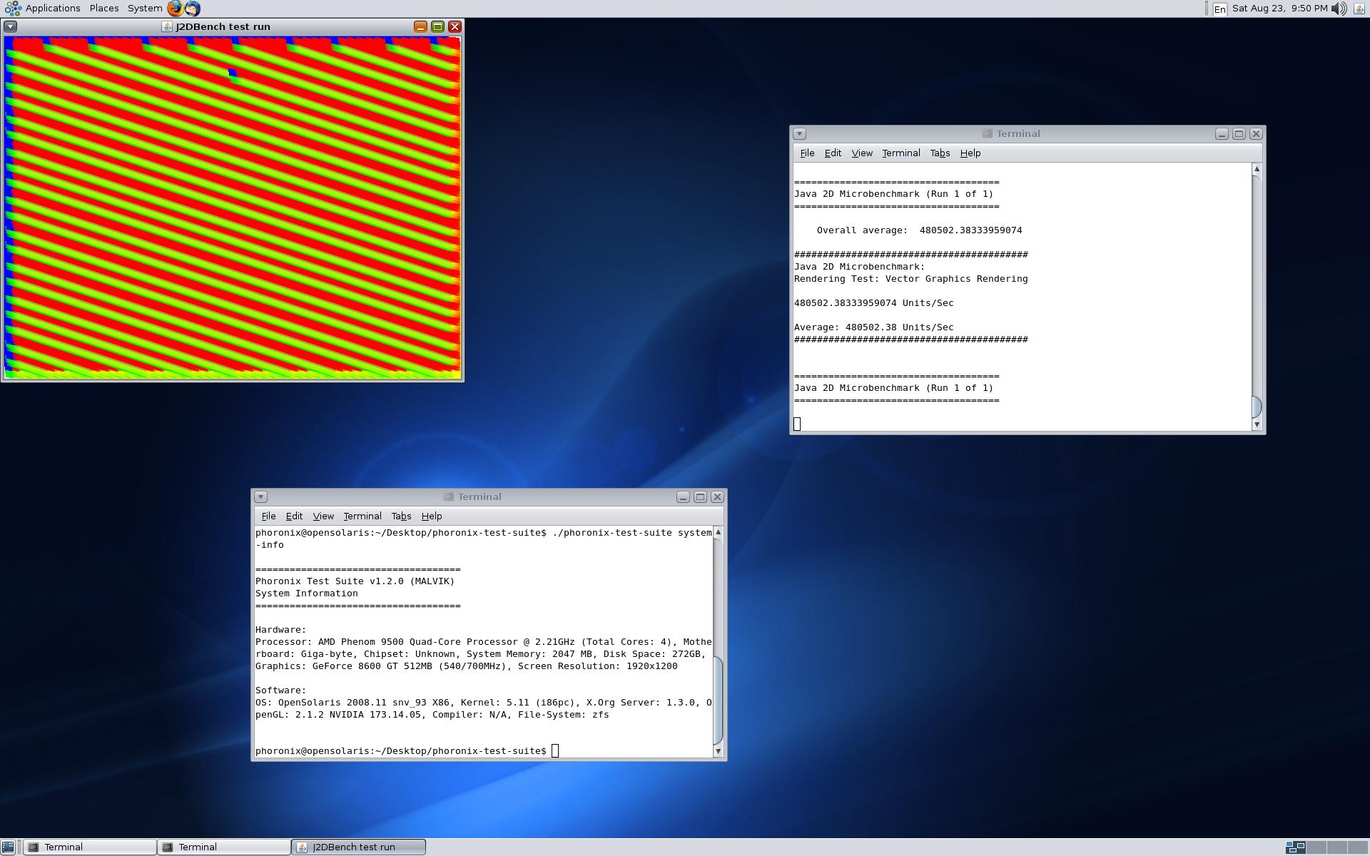 Benchmark-Suite Phoronix 2.0 samt Live-CD veröffentlicht - PTS Desktop Live 2009.3