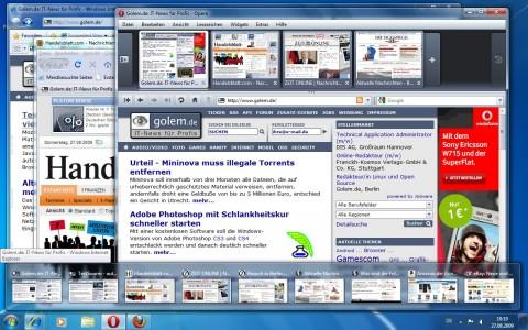 Tabvorschau in der Taskleiste beim Internet Explorer 8