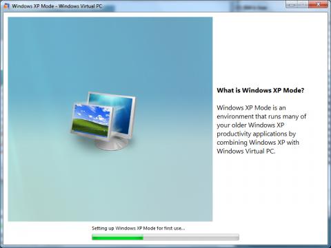 Neu im Release Candidate: Bei der Einrichtung des Windows-XP-Modus gibt es eine Einführung.