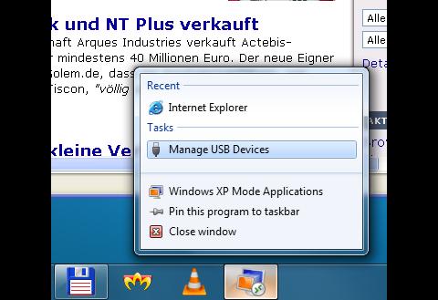 USB-Geräteeinstellungen