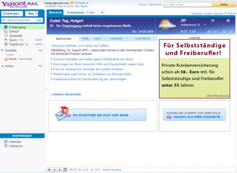 Yahoo Mail mit neuen Funktionen