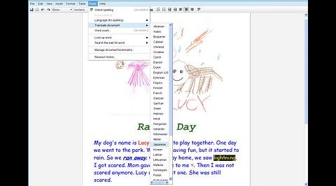 Translate übersetzt einen englischen Text in der Office-Awendung Docs... (Screenshot: Google)