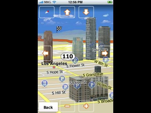 iGo my Way - Kartenansicht mit 3D-Gebäuden