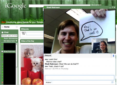iGoogle - Voice- und Video-Chat