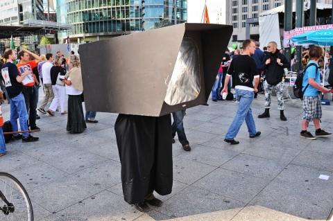 Protest gegen Videoüberwachung [Quelle AK Vorrat]