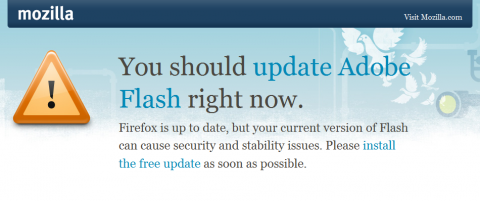 Firefox warnt künftig vor veraltetem Flash-Plug-in.