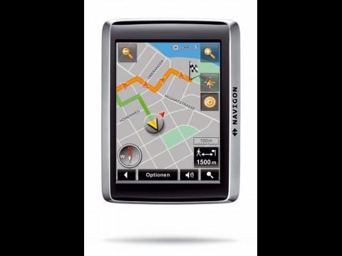 Navigon 2410 - Fußgängernavigation im Hochformat mit elektronischem Kompass
