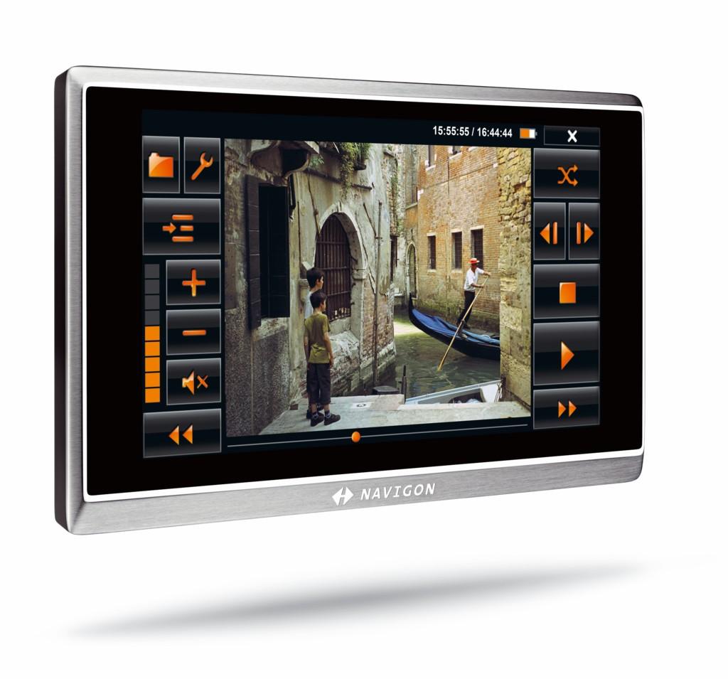 Navigon zeigt Navigationsgeräte mit mobilem Internetzugriff - Navigon 8410 - Videoplayer
