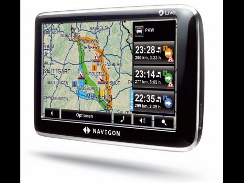 Navigon 6350 - Navigation mit Traffic Live