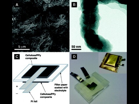 Batterie aus Papier, entwickelt an der Universität Uppsala