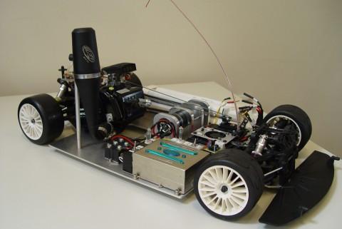 Trägerfahrzeug, in das die Forscher eine Redox-Flow-Batterie integrieren. [Quelle: Hochschule für Angewandte Wissenschaften Ostfalia]