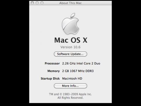 Snow Leopard alias MacOS X 10.6