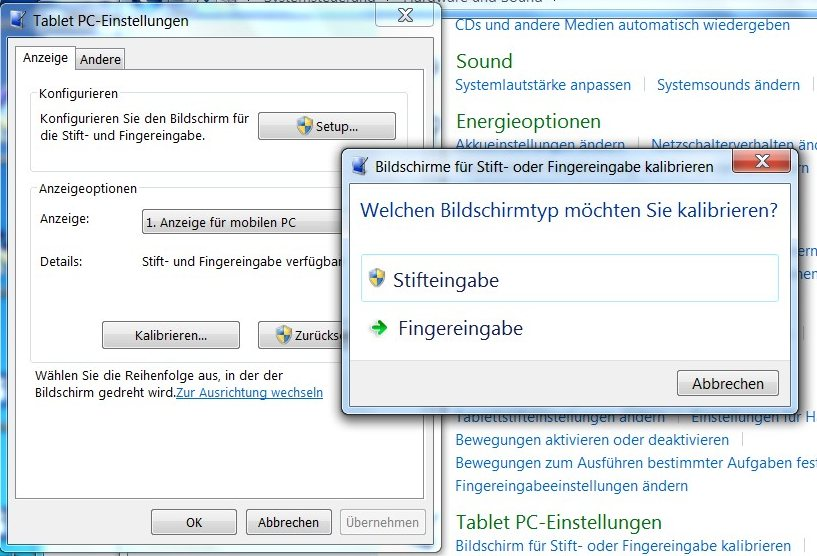 Test: Windows 7 Multitouch - inkonsequent umgesetzt -
