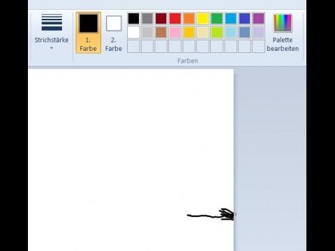Typisch für Windows' Fingerbedienung: Kleine Vierecke müssen pixelgenau mit dem Finger getroffen werden, sonst malt der Anwender daneben.