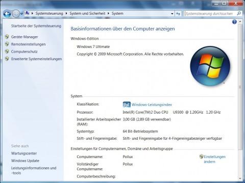 Windows 7 mit dem N-Trig-Treiber. Bis zu vier Finger können gleichzeitig benutzt werden.