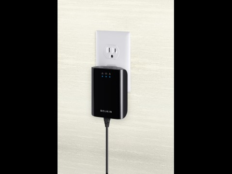 Belkins Gigabit-Powerline-Adapter F5D4076ea
