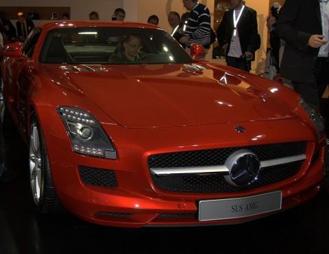 Hingucker: Der AMG SLS - ab 2013 auch mit Elektromotor (Foto: wp)