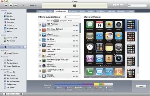 iTunes 9 - AppSync