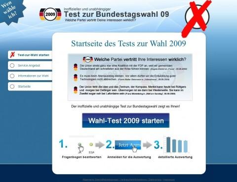 Verbraucherschützer warnen vor Abzocke durch Wahlinfo2009.de.