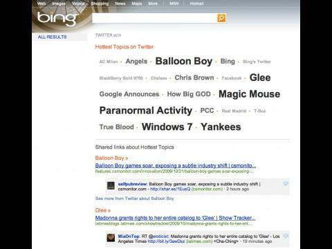 Twitter-Suche auf Bing