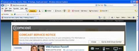 Comcast warnt Nutzer gekaperter PCs