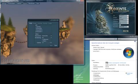 DirectX-11-Test 'Heaven' unter Vista 64