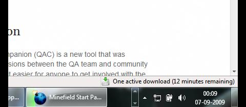 Firefox 3.6 - Tasksymbol mit Fortschrittsbalken beim Download